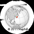 Outline Map of Kamiseya, rectangular outline