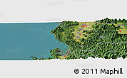 "Satellite Panoramic Map of the area around 35° 52' 19"" N, 136° 4' 29"" E"