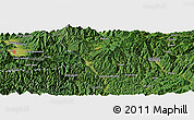 "Satellite Panoramic Map of the area around 35° 52' 19"" N, 136° 55' 30"" E"