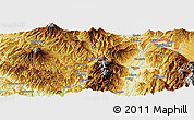"Physical Panoramic Map of the area around 35° 52' 19"" N, 137° 46' 30"" E"