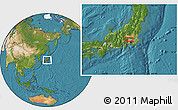Satellite Location Map of Itsukaichi