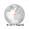 """Outline Map of the Area around 35° 52' 19"""" N, 13° 31' 30"""" W, rectangular outline"""