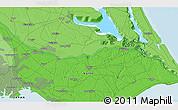 Political 3D Map of Nagareyama