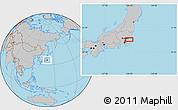 Gray Location Map of Nagareyama