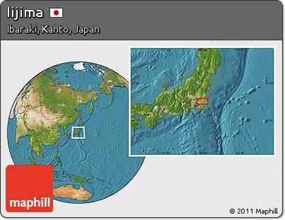 Satellite Location Map of Iijima