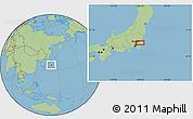 Savanna Style Location Map of Nagareyama