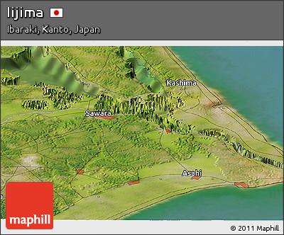 Satellite Panoramic Map of Iijima