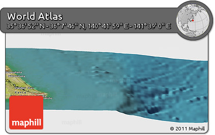"Satellite Panoramic Map of the Area around 35°52'19""N,141°10'30""E"