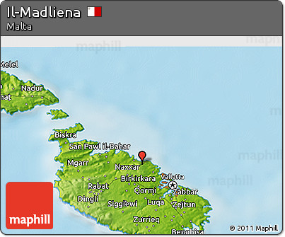 Free Physical 3D Map of Il-Madliena on outline map of il, topographic map of il, blank map of il, color map of il,
