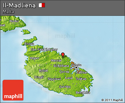 Free Physical Map of Il-Madliena on outline map of il, topographic map of il, blank map of il, color map of il,