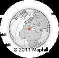 Outline Map of Haz-Zebbug, rectangular outline