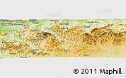"""Physical Panoramic Map of the area around 35°52'19""""N,1°46'29""""E"""