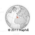 """Outline Map of the Area around 35° 52' 19"""" N, 1° 37' 30"""" W, rectangular outline"""