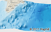 """Shaded Relief 3D Map of the area around 35°52'19""""N,28°7'30""""E"""