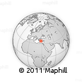 """Outline Map of the Area around 35° 52' 19"""" N, 28° 7' 30"""" E, rectangular outline"""