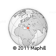 """Outline Map of the Area around 35° 52' 19"""" N, 29° 49' 30"""" E, rectangular outline"""