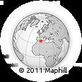 Outline Map of Hadj Aïssa Ben Zerrouk, rectangular outline