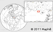 """Blank Location Map of the area around 35°52'19""""N,31°31'29""""E"""