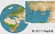"""Satellite Location Map of the area around 35°52'19""""N,31°31'29""""E"""