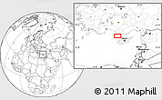 """Blank Location Map of the area around 35°52'19""""N,32°22'30""""E"""