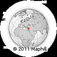 Outline Map of Emirşah, rectangular outline