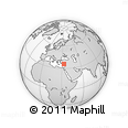 Outline Map of Anamur, rectangular outline