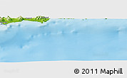 """Physical Panoramic Map of the area around 35°52'19""""N,33°13'30""""E"""