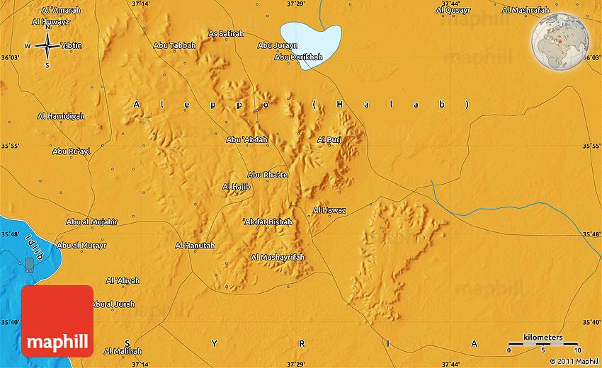 Political Map of Ab Al Murayr