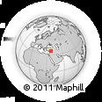 Outline Map of As Safīrah, rectangular outline