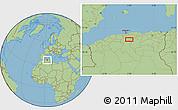 "Savanna Style Location Map of the area around 35°52'19""N,3°28'30""E"