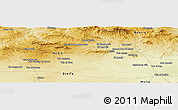 Physical Panoramic Map of Oulad Bou Chelba