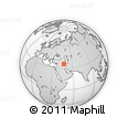 Outline Map of Kānī Mollā, rectangular outline