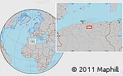 Gray Location Map of Bordj Bou Arreridj