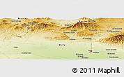 Physical Panoramic Map of Mzouria