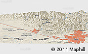 Shaded Relief Panoramic Map of Tehrān
