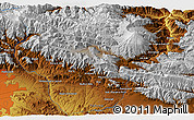 """Physical 3D Map of the area around 35°52'19""""N,51°55'29""""E"""