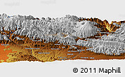 """Physical Panoramic Map of the area around 35°52'19""""N,51°55'29""""E"""