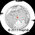 Outline Map of Farīmān, rectangular outline