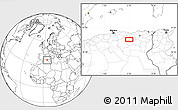 """Blank Location Map of the area around 35°52'19""""N,5°10'30""""E"""