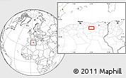Blank Location Map of Aïn Oulmene