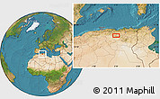 """Satellite Location Map of the area around 35°52'19""""N,5°10'30""""E"""
