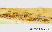 Physical Panoramic Map of Mechtat el Aïoun