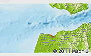 """Physical 3D Map of the area around 35°52'19""""N,5°52'30""""W"""