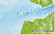 """Physical Map of the area around 35°52'19""""N,5°52'30""""W"""