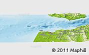 Physical Panoramic Map of Dalia