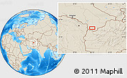 """Shaded Relief Location Map of the area around 35°52'19""""N,62°7'30""""E"""