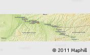 Physical Panoramic Map of Mīrānzā'ī