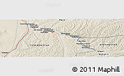 Shaded Relief Panoramic Map of Mīrānzā'ī