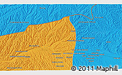 """Political 3D Map of the area around 35°52'19""""N,63°49'30""""E"""