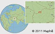 "Savanna Style Location Map of the area around 35°52'19""N,63°49'30""E"